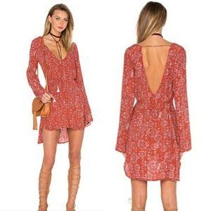 Faithfull the brand high-low mini dress size xs
